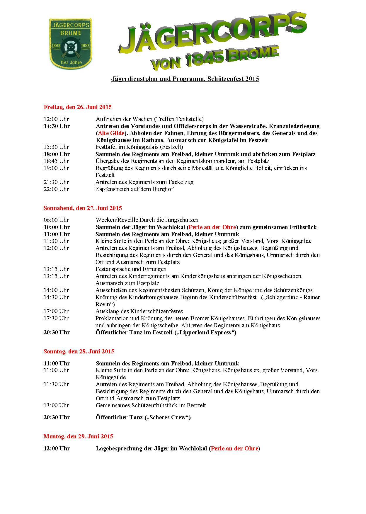 Jägerdienstplan 2015